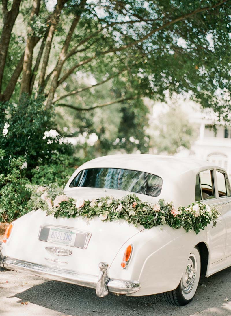 Antique Car with Garland Lowcountry Love Charleston Styled Shoot ppplowndesgrove-251