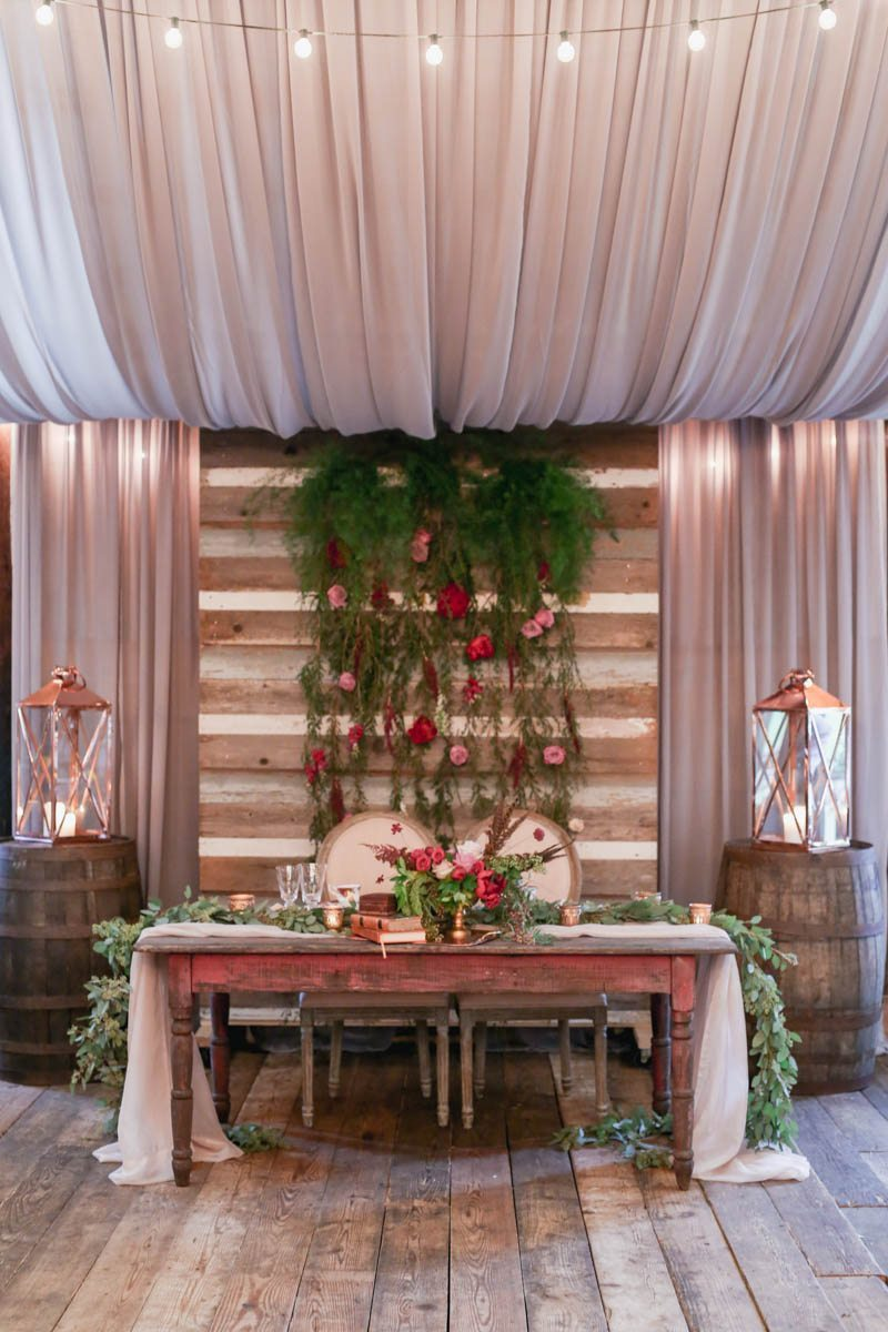 Antique Farmhouse Reception Sweetheart Table Bohemian Plantation Wedding at Vinewood__Shauna_Veasey_Photography_openhouse83