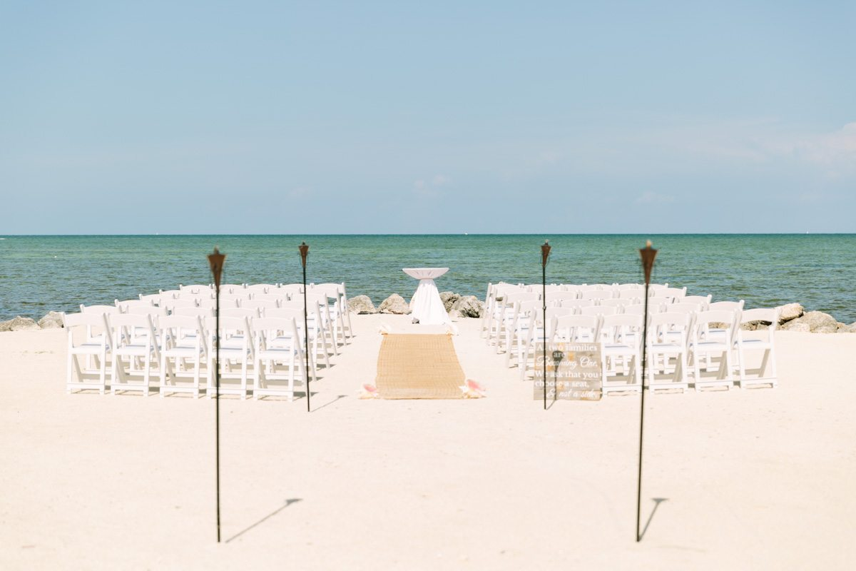 _Beach Wedding Ceremony Set Up