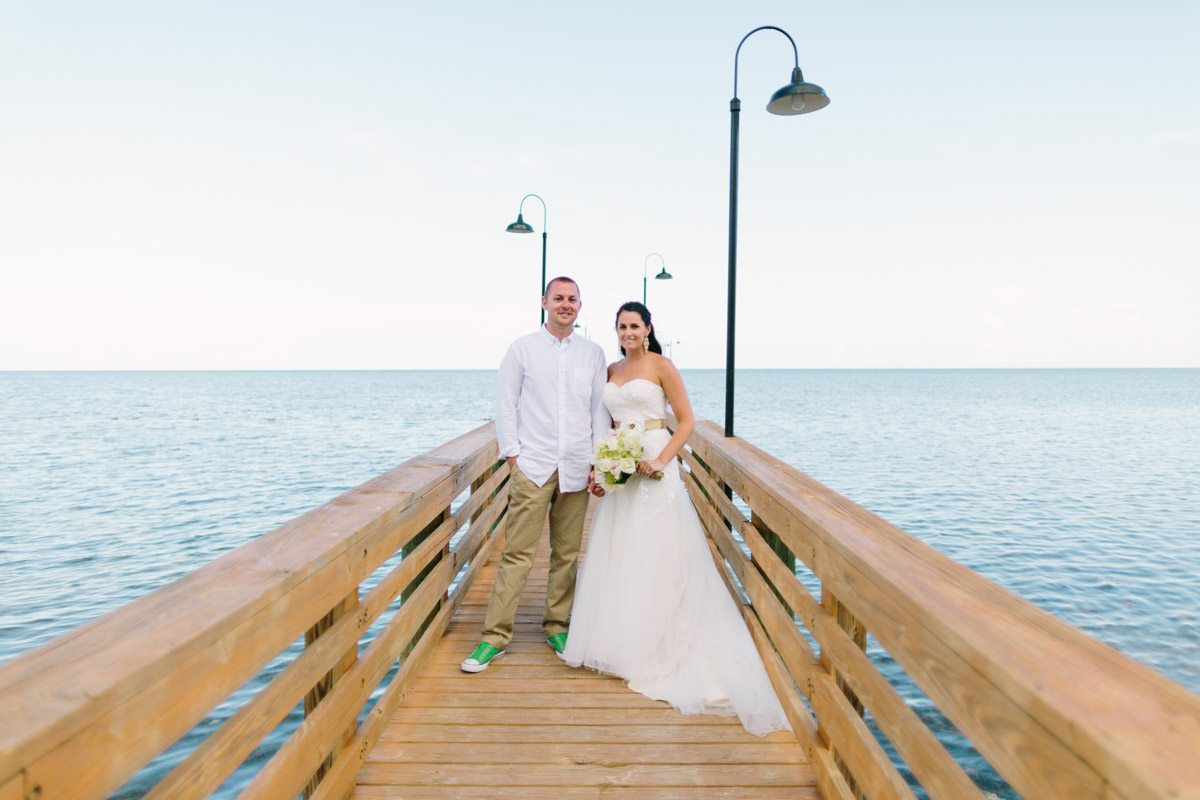 _Bride and Groom on the Pier at The Islander Resort