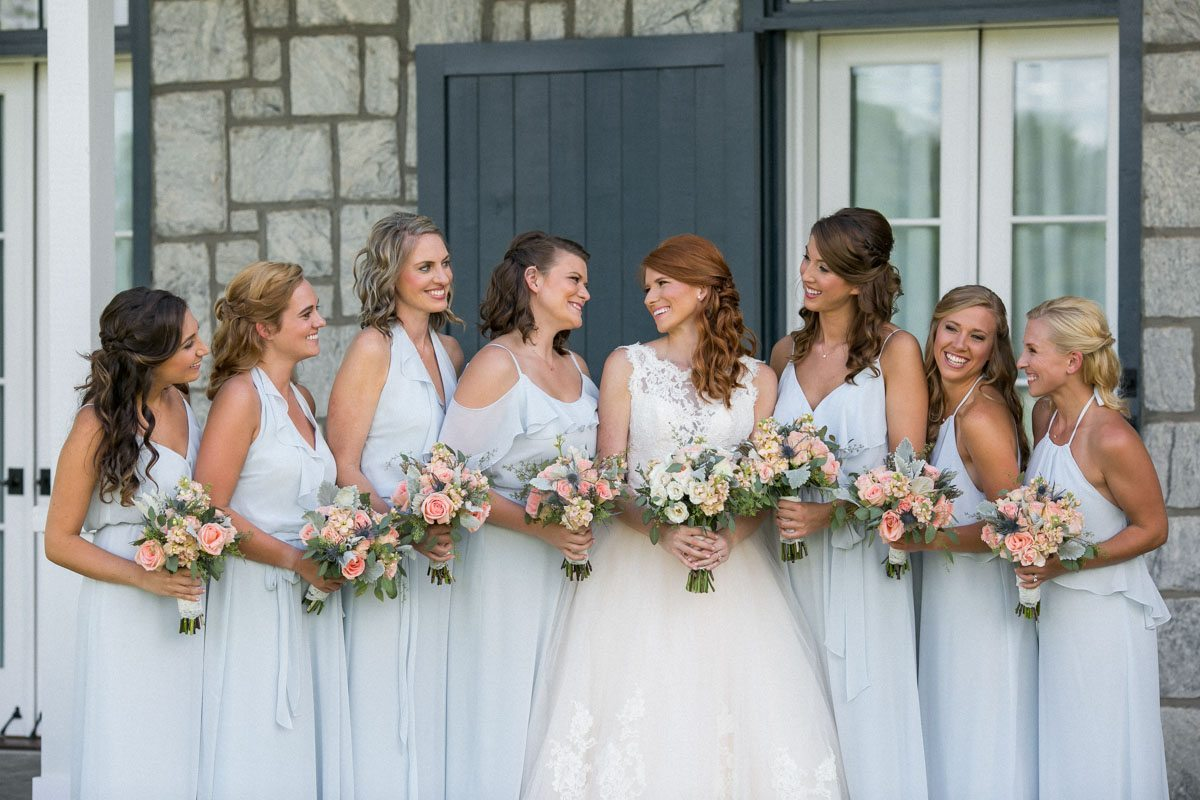 Bridesmaids looking at bride Weatherby_Weatherby_Jessica_Williams_Studio_Weatherby7285