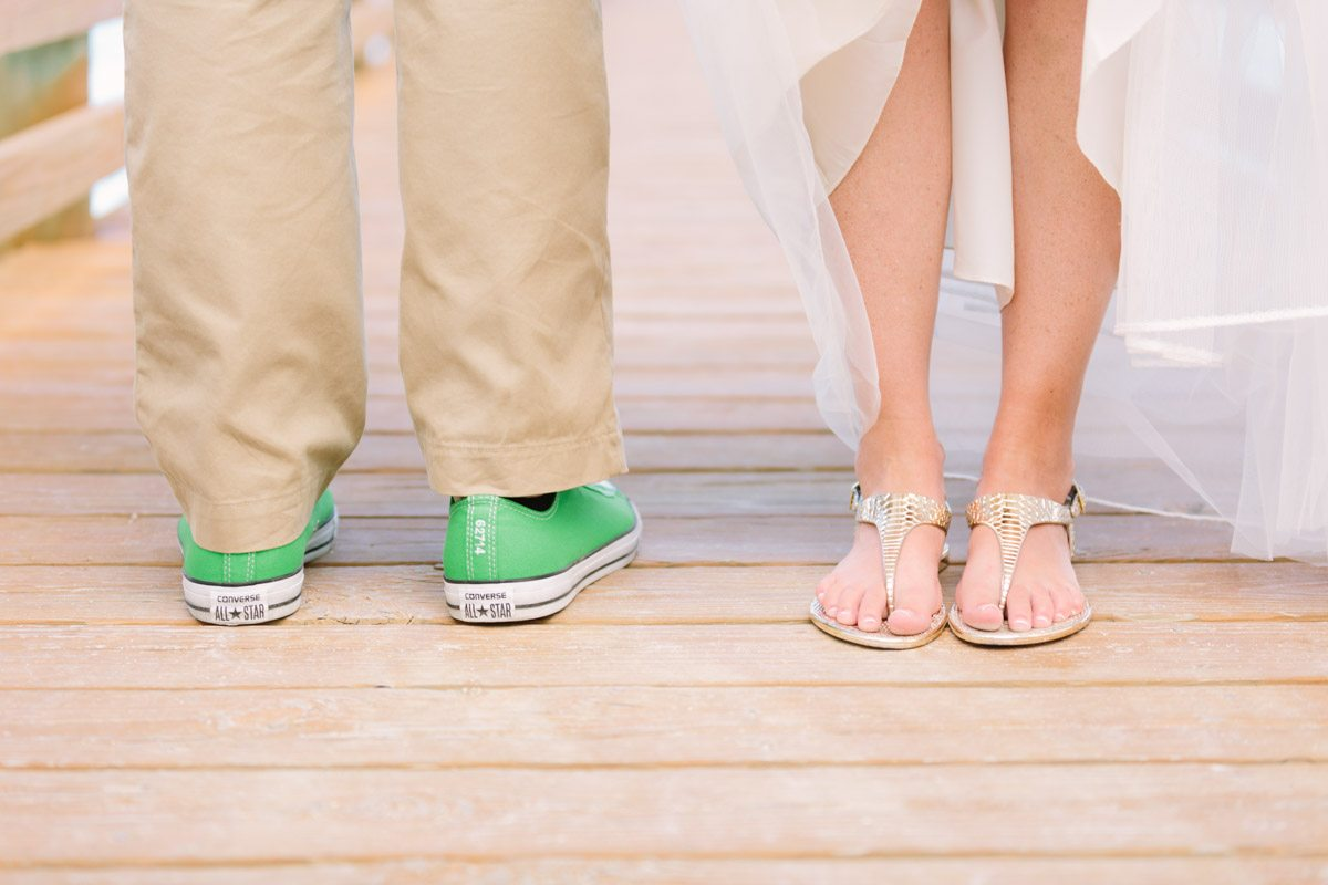 _Casual Beach Wedding Bride and Groom Shoes