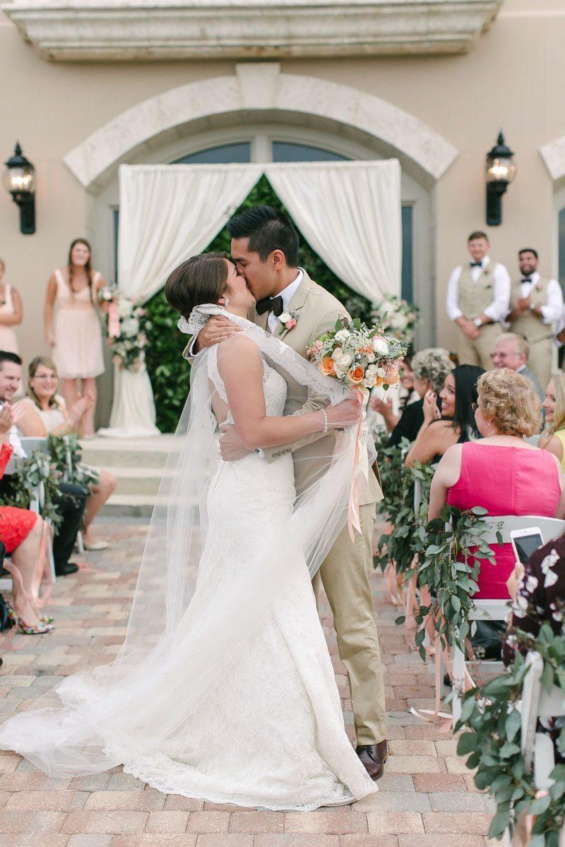 Bride and Groom First Kiss Ashley Steeby Photography Destination Weddings www.AshleySteeby.com   Asteeby@gmail.com