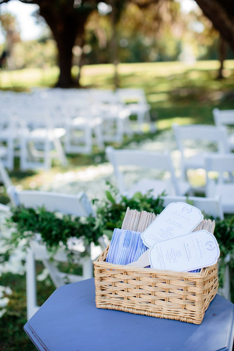 Ceremony fan programs and greenery chair adornments Hunter_Gibney_Ais_Portraits_AisPortraitsGibneyRibaultWedding265