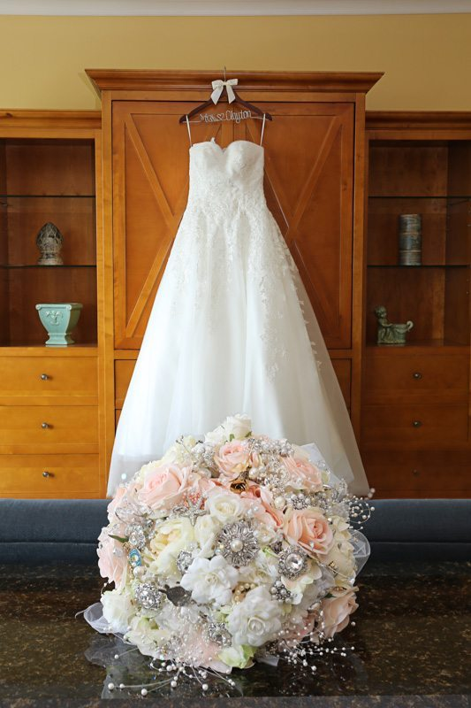 Dress & Bouquet_