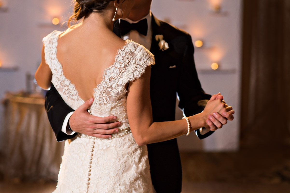 First dance back detail close up of lace and buttons 11-14-15 Tara and Justin 103