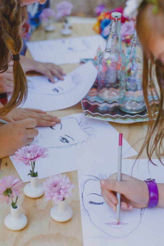 Girls Sketching #2