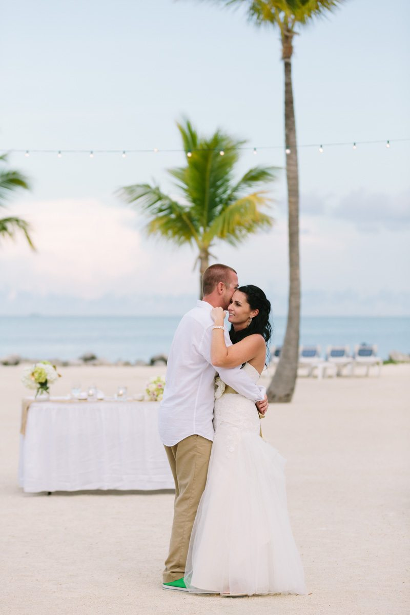 _Newlywed's First Dance on the Beach at The Islander Resort