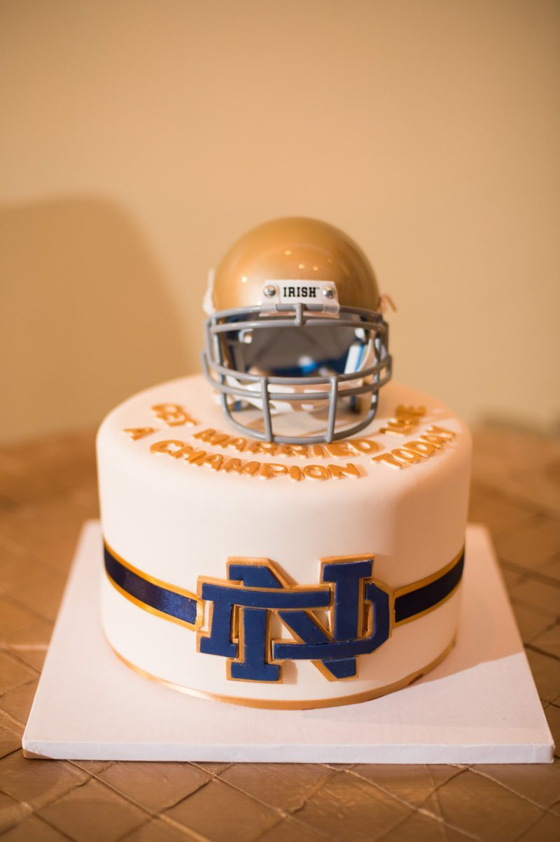 Notre Dame Groom cake with helmet 11-14-15 Tara and Justin 77