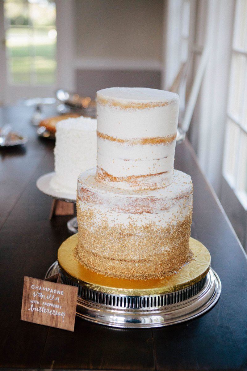 Ombre naked cake powedered sugar desert table Hunter_Gibney_Ais_Portraits_AisPortraitsGibneyRibaultWedding692