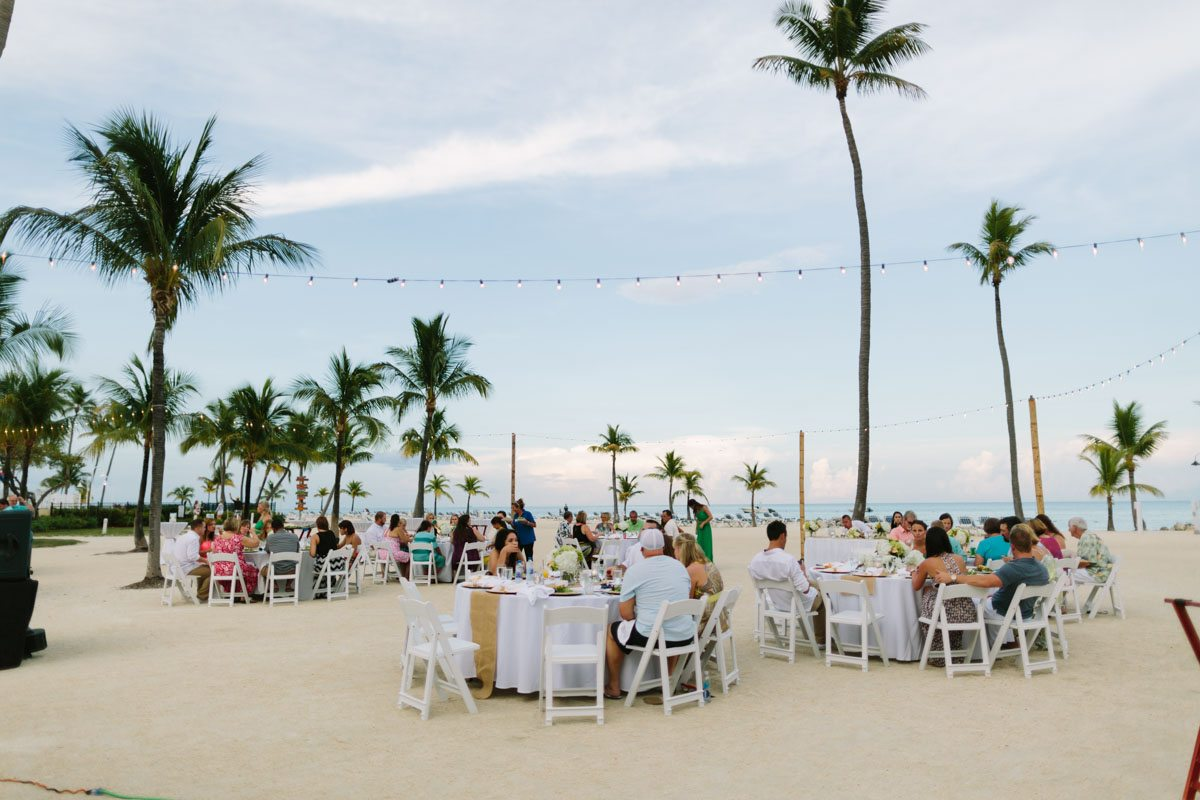 _Outdoor Beach Wedding Reception at The Islander Resort