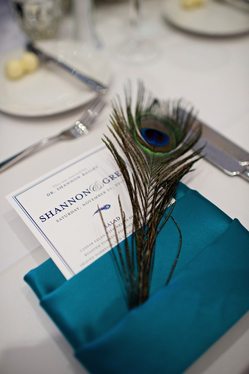 Peacock feather table linen Barry_Bailey_Kristen_Weaver_Photography_KWPSGBA1555