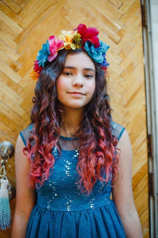 Rainbow Flower Crown_