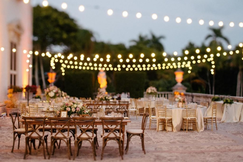 Luxe Garden Wedding At Vizcaya Museum Gardens In Miami Fl The