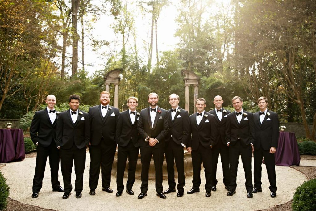 The groom and groomsmen in black suits Schraudenbach_Rector_Laura_Stone_20151024010351