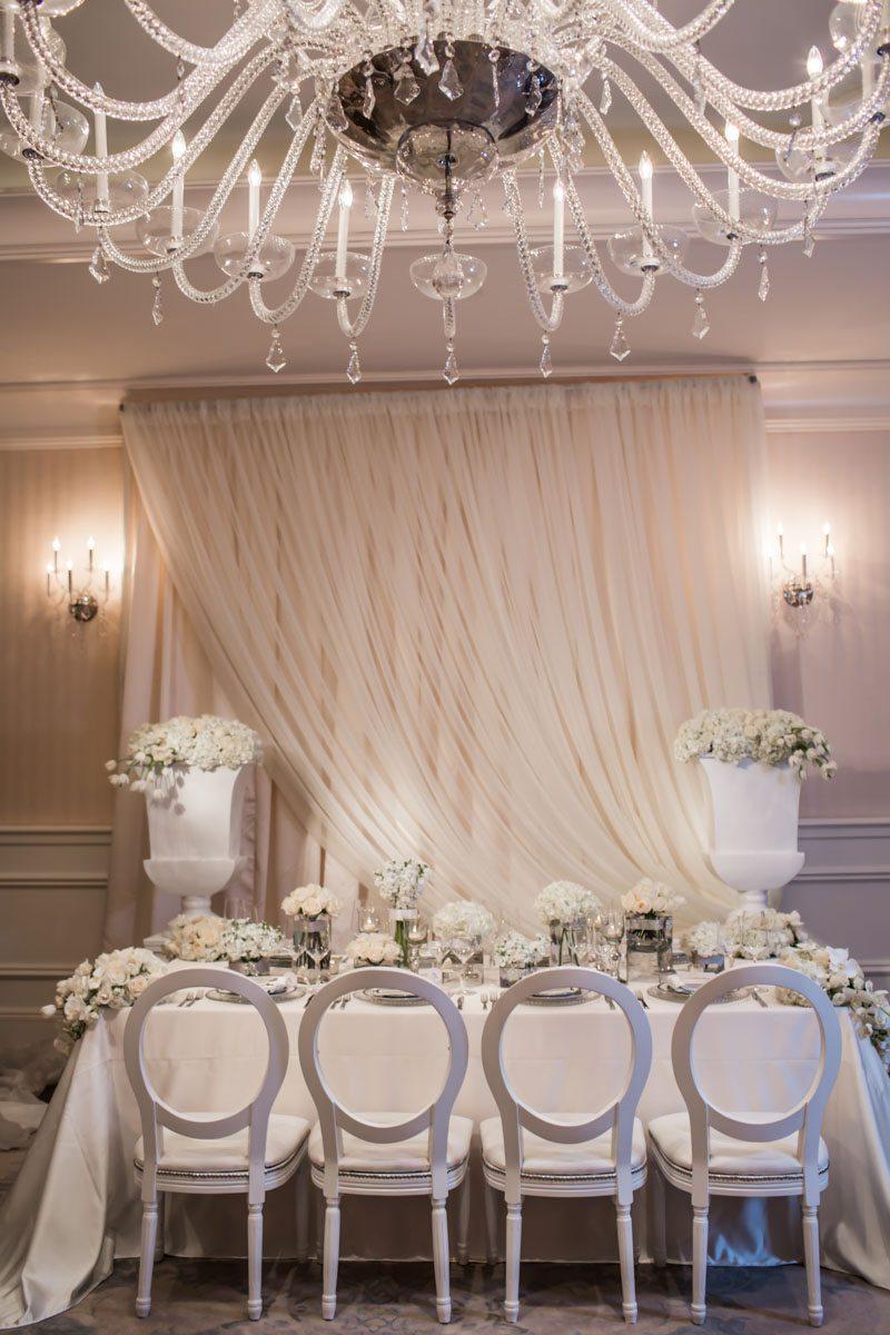 Wedding Party Table Featuring ChandelierJanet_Howard_Studio_WhiteWedding290