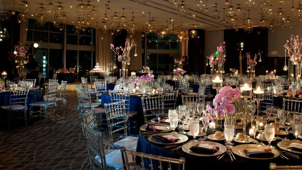 epic hotel ballroom wedding reception