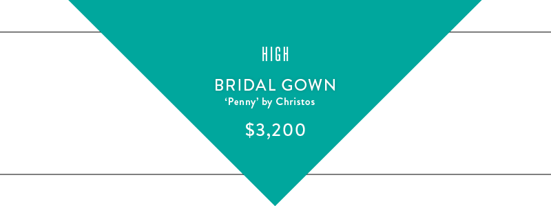 high bridal gown graphic