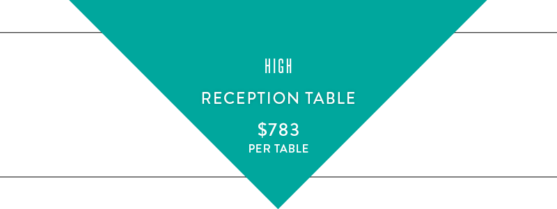 high reception table graphic