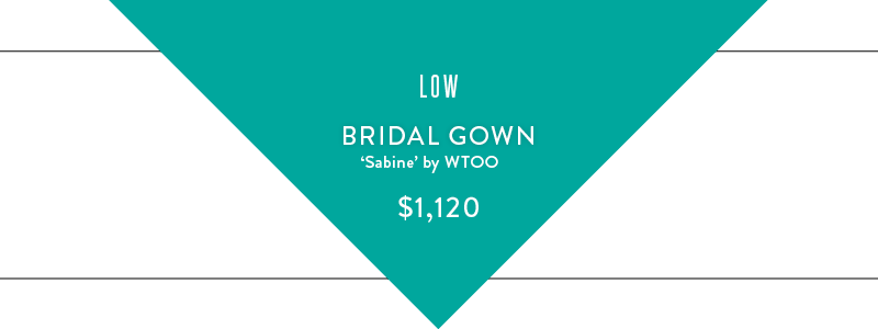 low bridal gown graphic
