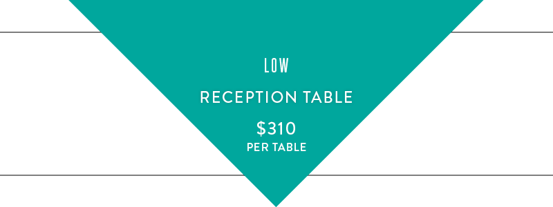 low reception table graphic