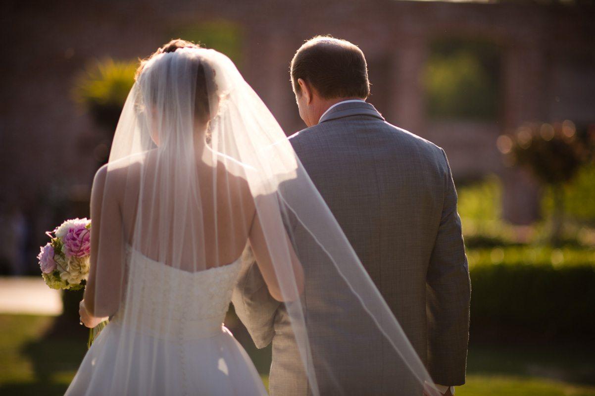 Bride Walking Down the Aisle Featuring Viel - Tessa Marie Weddings
