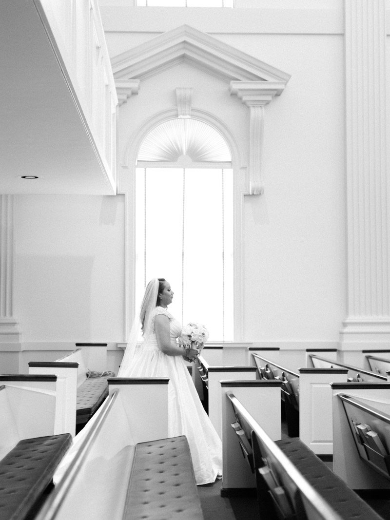Bride Walking Down the Aisle - Morning Light by Michelle Landreau
