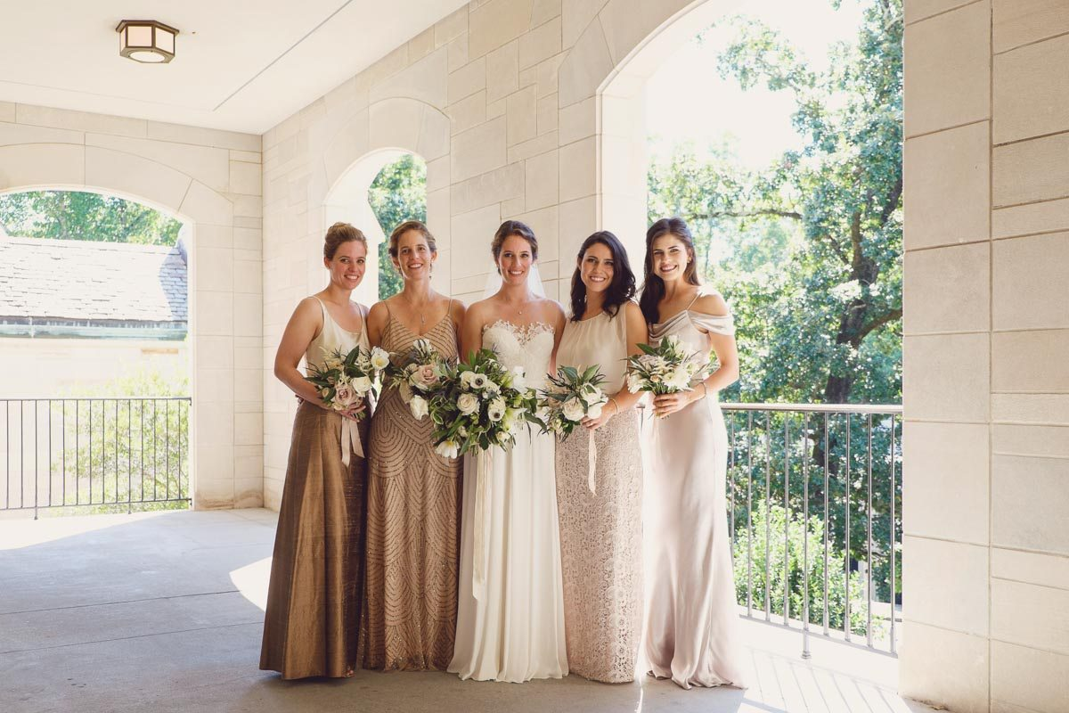Bride and Bridesmaids with bouquets - Adam for W.Scott Chester