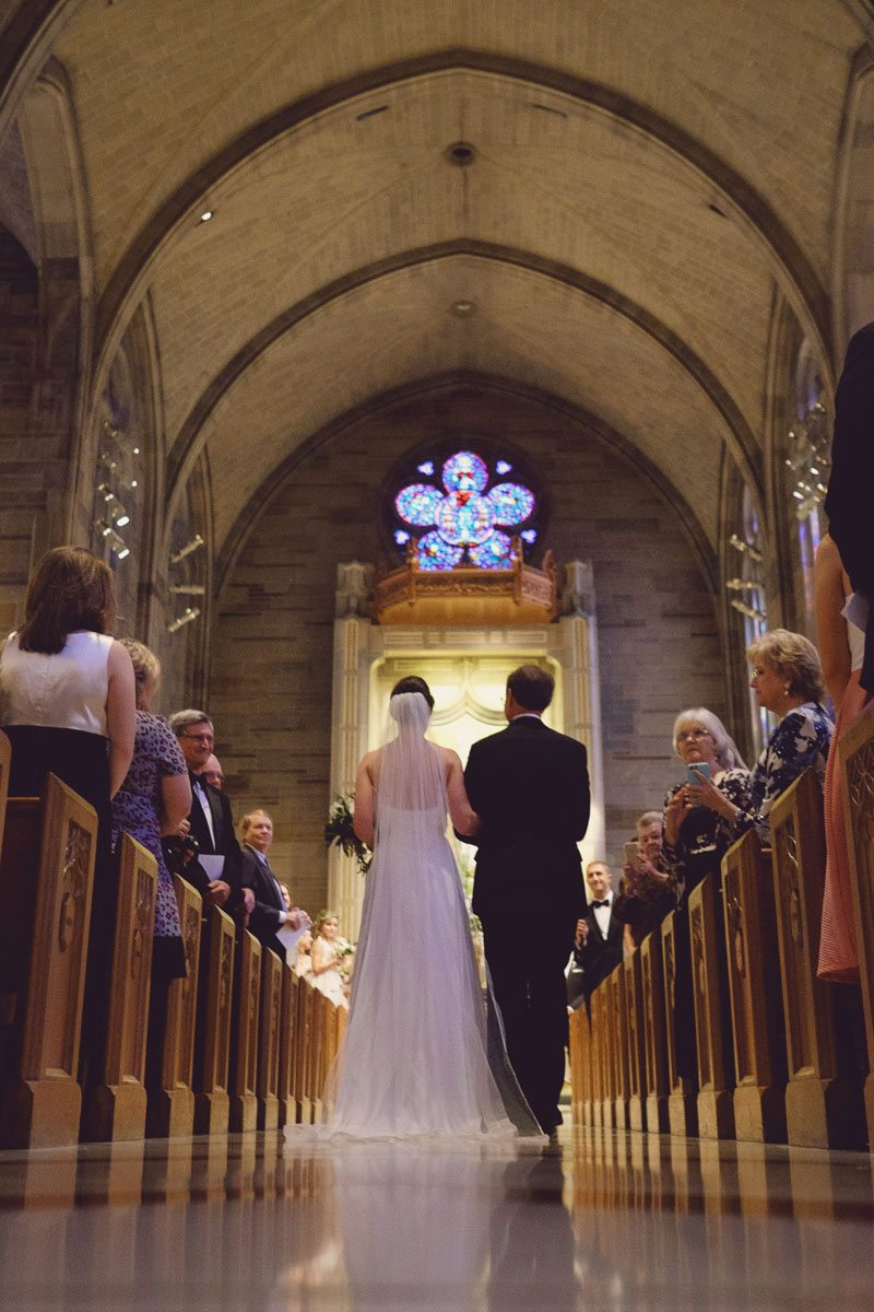 Bride and groom close up downaisle - Adam for W.Scott Chester