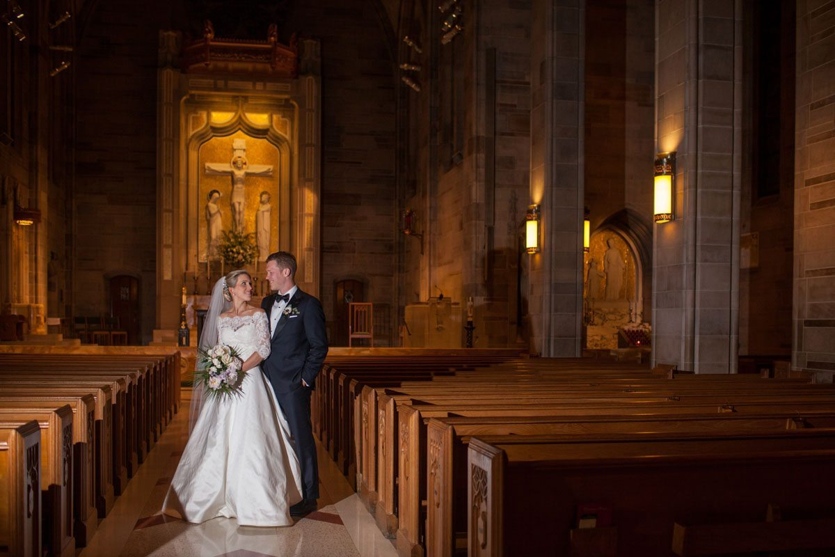 Bride and groom inside chaple Beavor_Case_Sharon_Theresa_Wheaton_20151114sharontheresawheaton1122