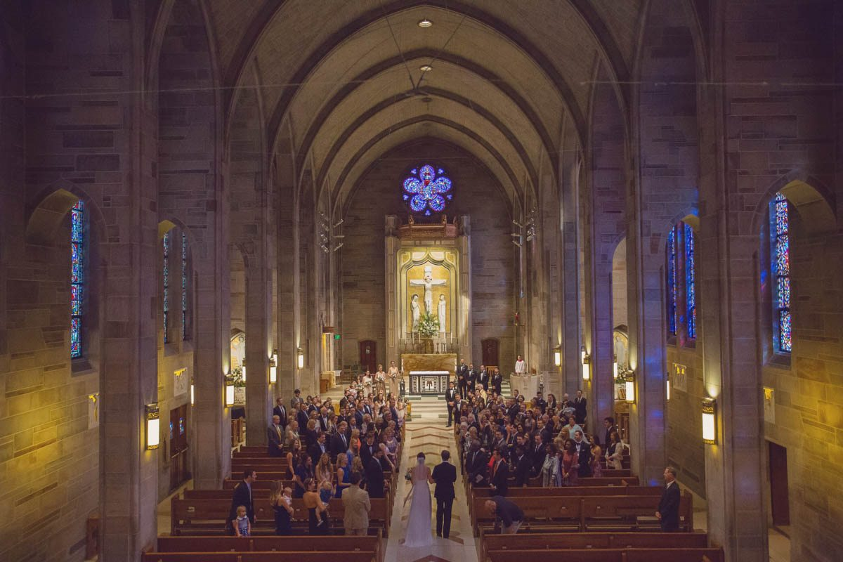 Bride and groom walking down aisle - feature picture - Adam for W.Scott Chester