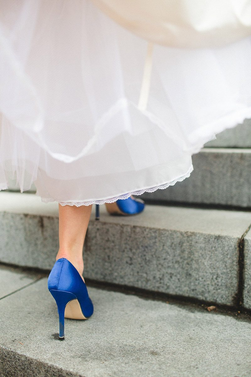 Bride colorful heels