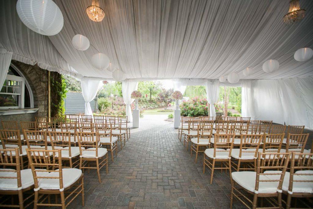Ceremony White Tent White Lantern Balls