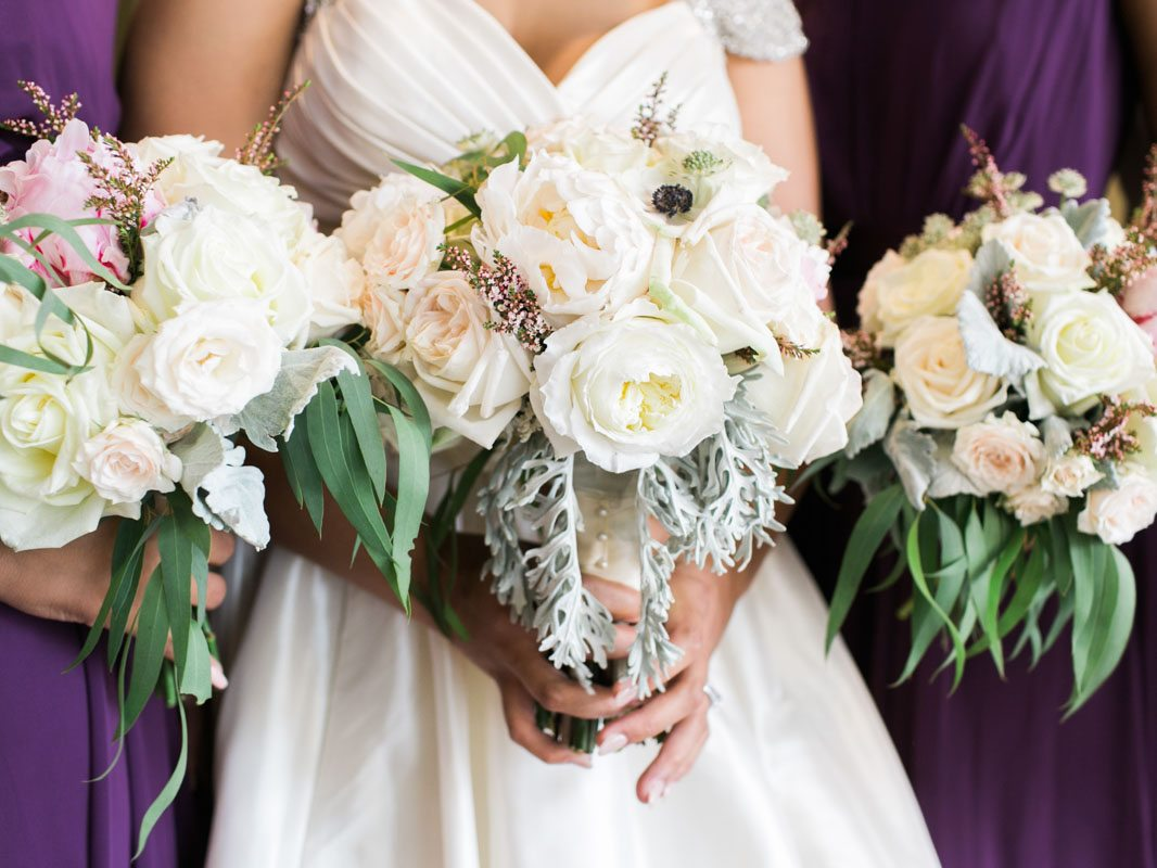 Close Up of Bride's Bouquet - Morning Light by Michelle Landreau
