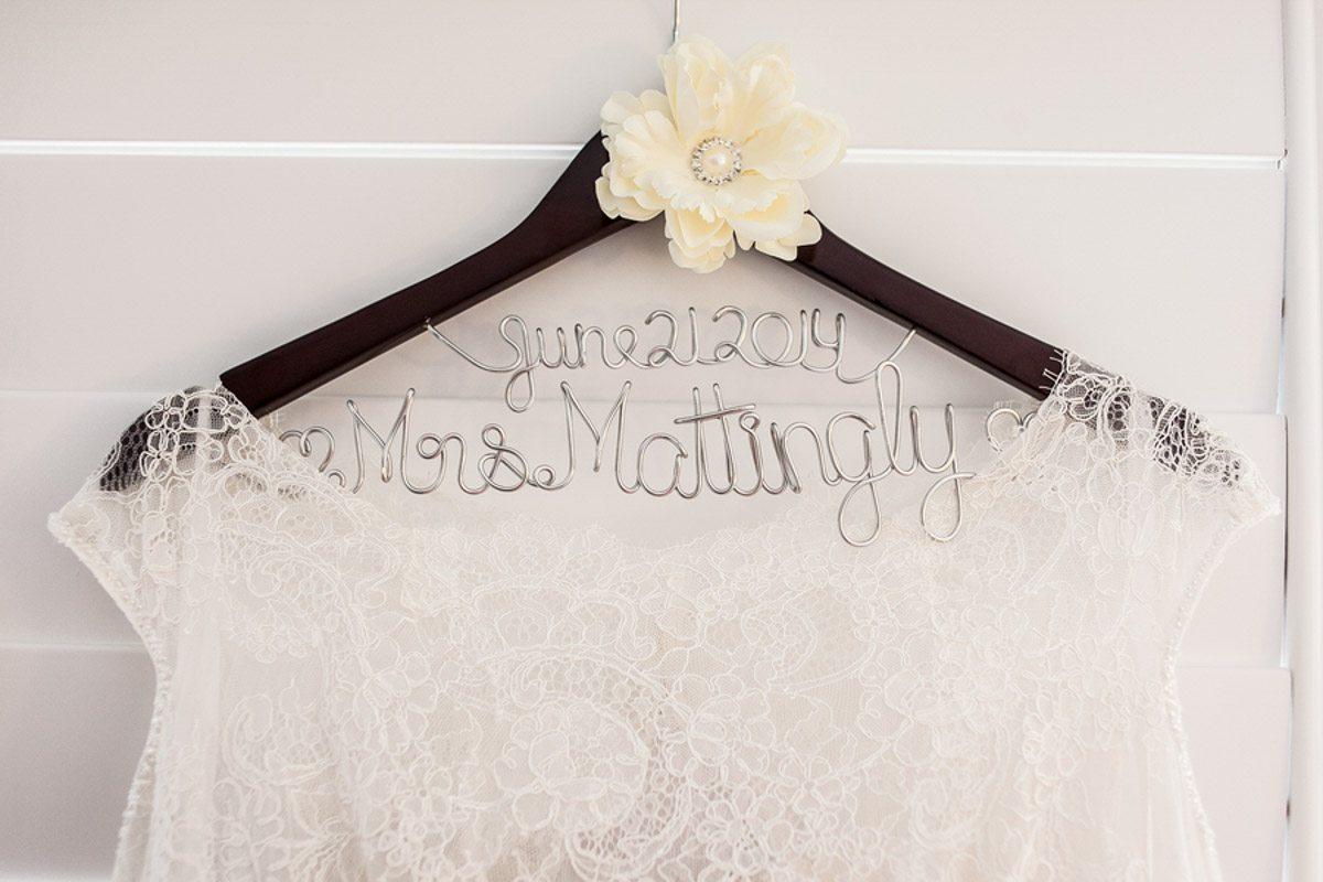 Custom Wedding Hanger