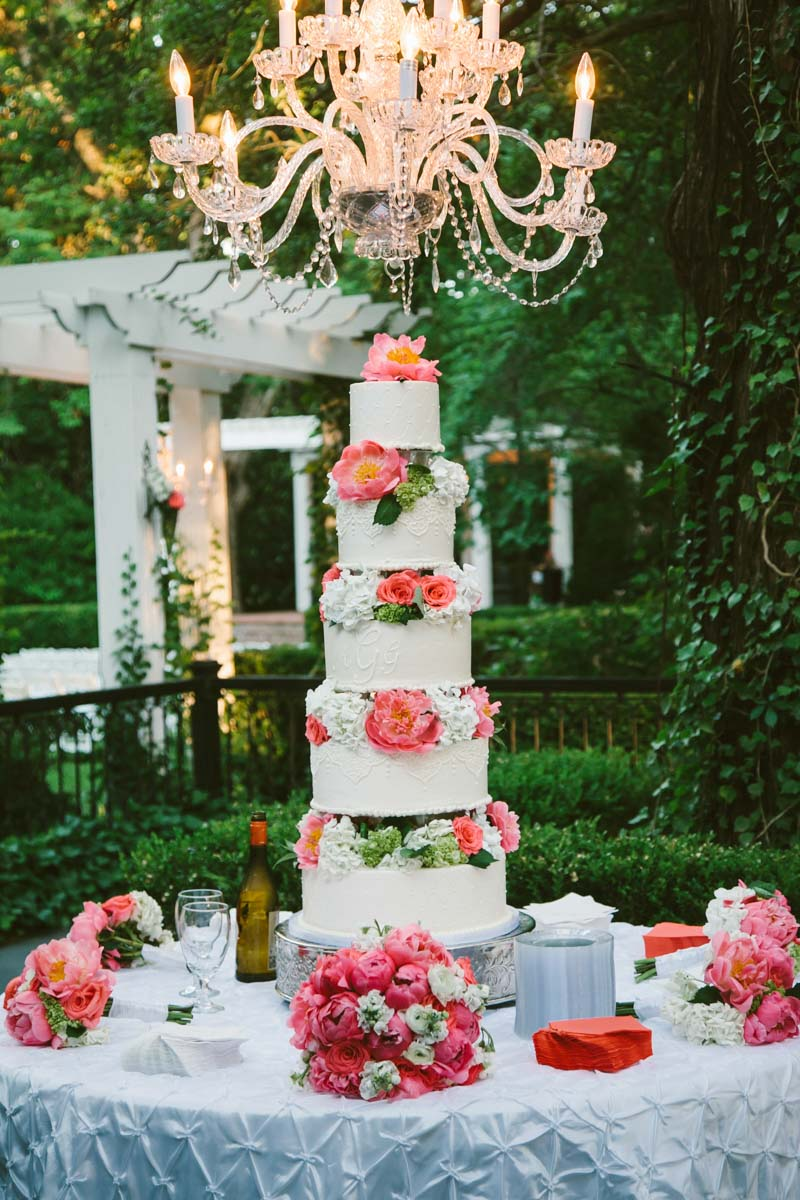 Five Tier Wedding Cake - Mark Williams Studio Photography