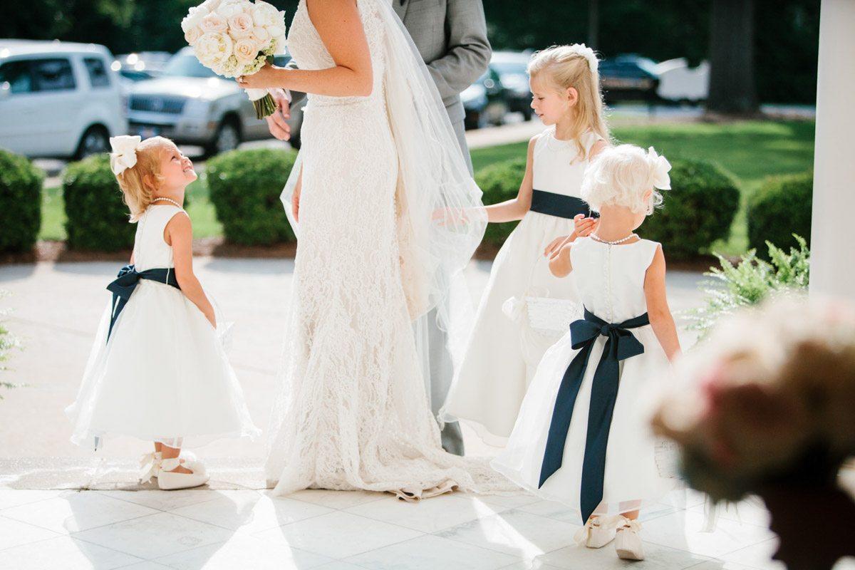 Flowergirls with Bride