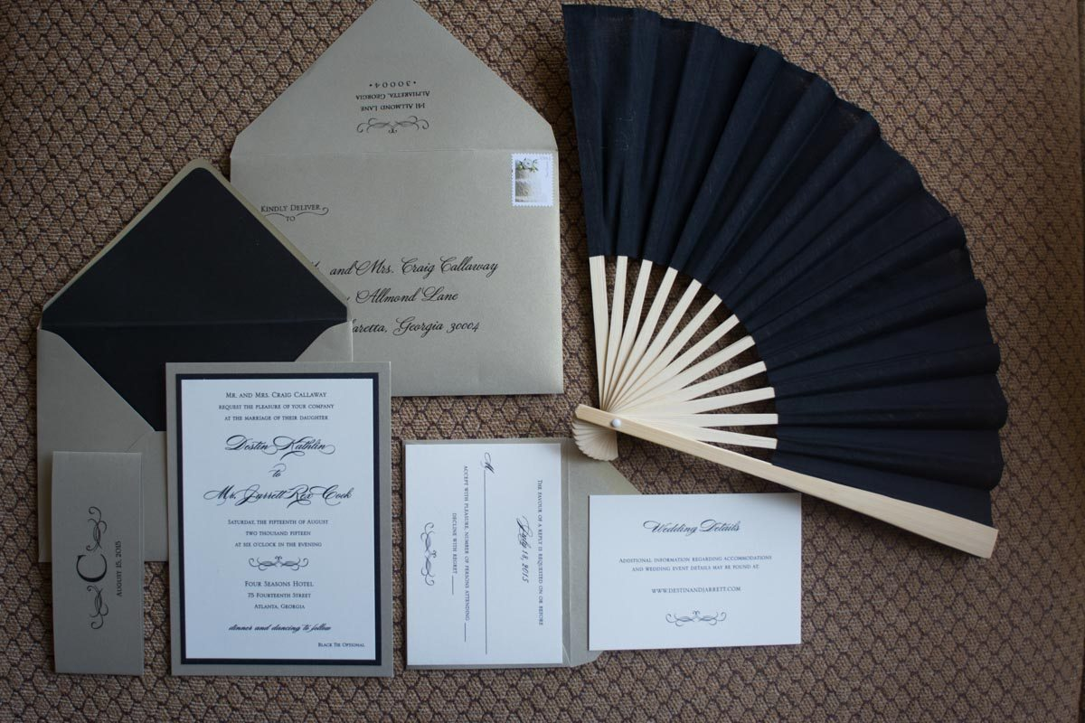 Gray and black wedding inviations Callaway_Cook_Moreland_Photography_Cook003
