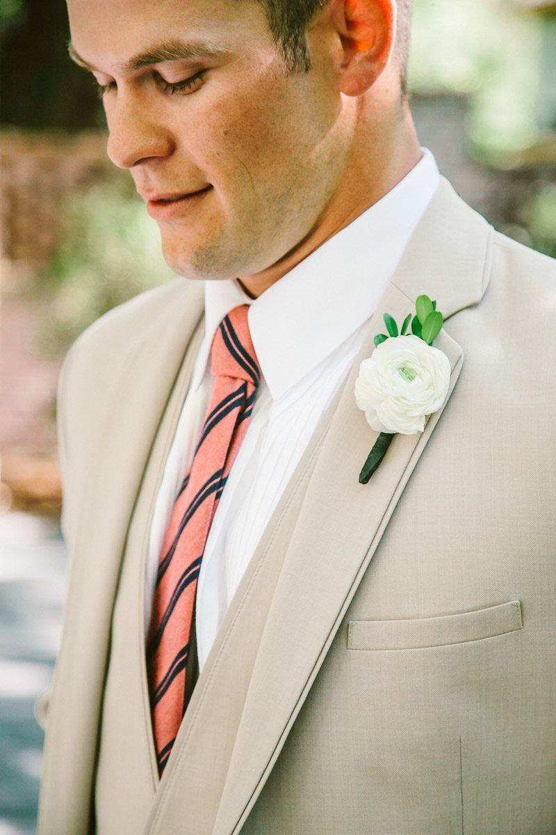 Groom Featuring Boutonniere - Mark Williams Studio Photography