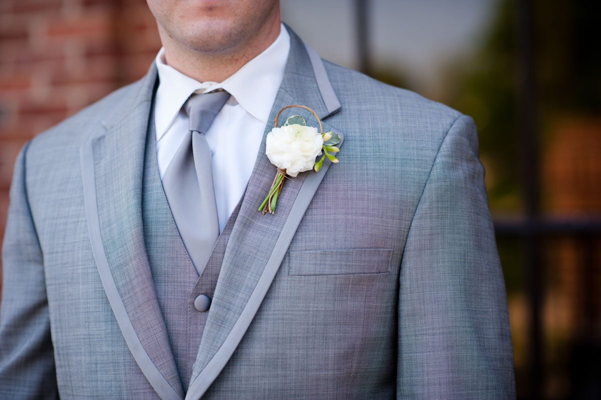 Groom and his Boutonniere -Tessa Marie Weddings