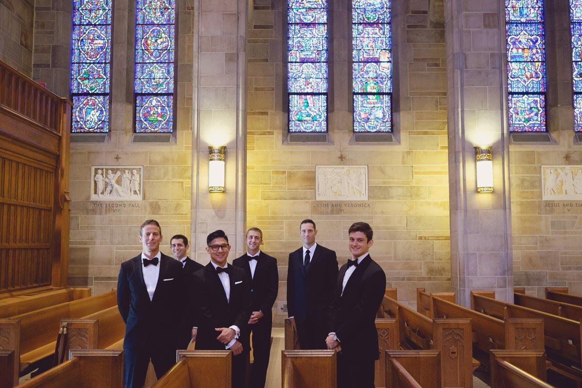 Groomsmen in church - Adam for W.Scott Chester