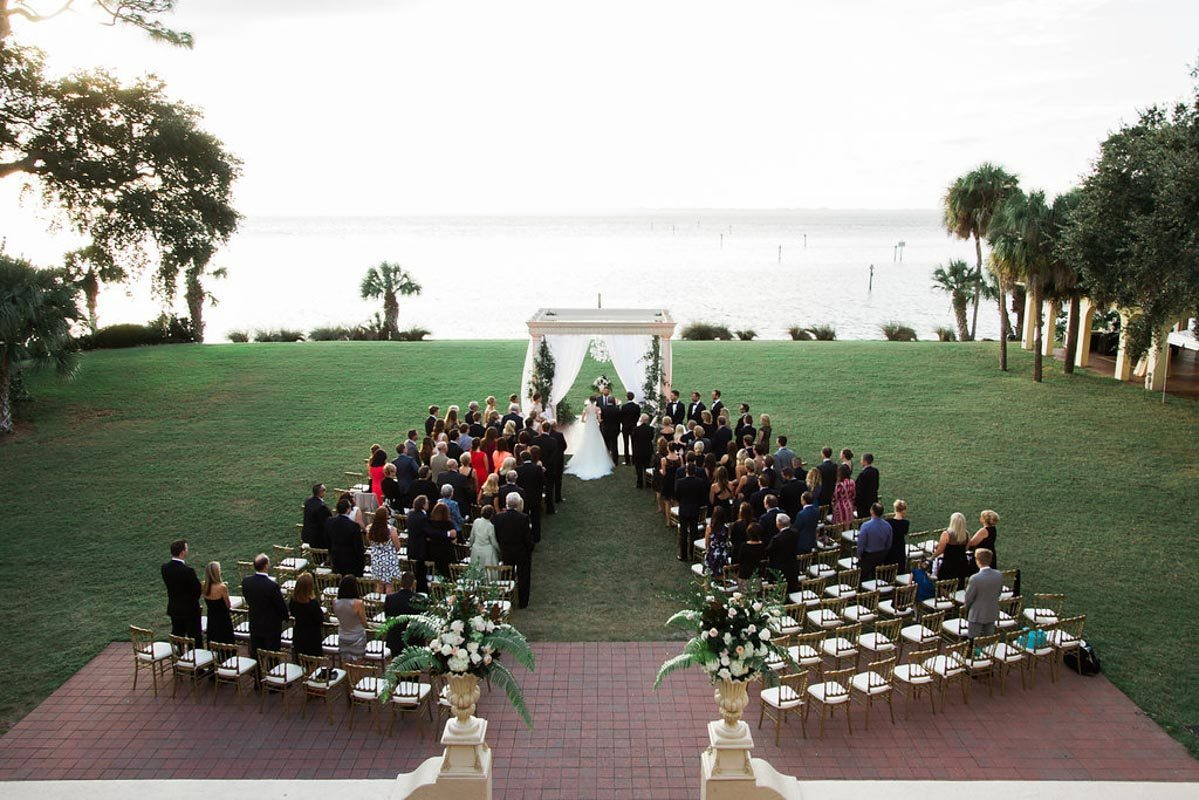 High Shot of Wedding Ceremony - Tara Tomlinson Photography