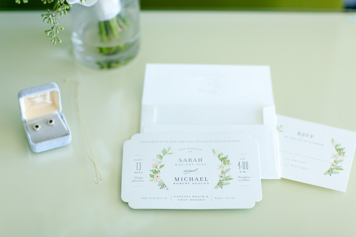 Jewlery box and invitations