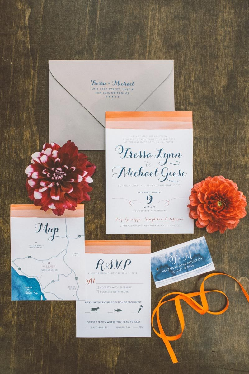 Ombre watercolor invitation suite_Anna Delores Photography 2