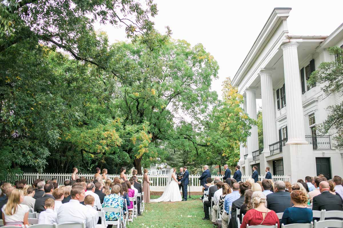 Outdoor Ceremony at Taylor Grady House