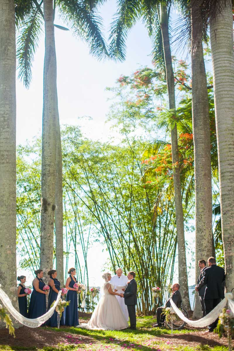 Palm Tree Ceremony Shot