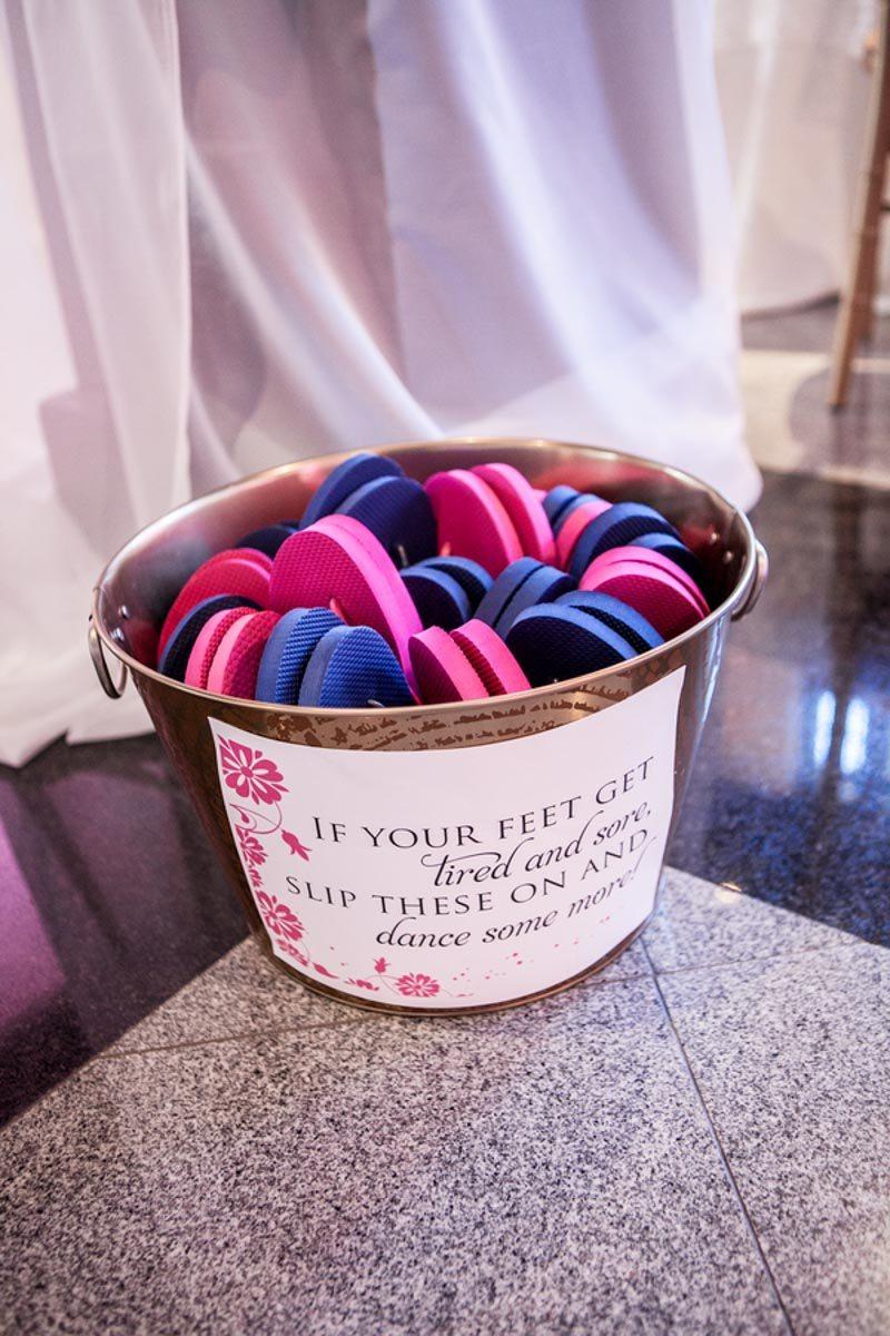 Pink and Blue Flipflops Bucket