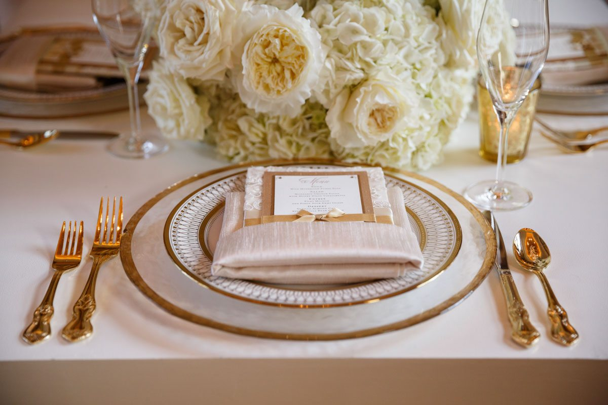Place setting menu