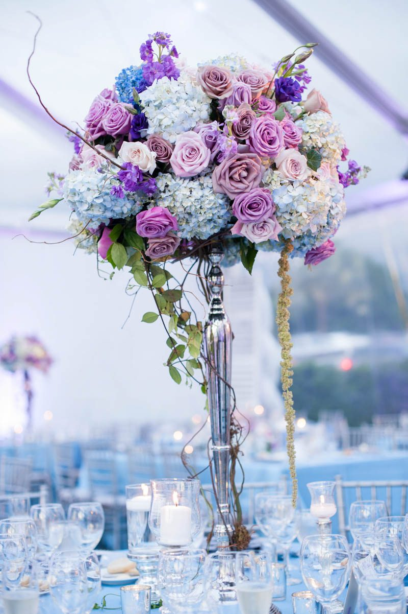 _Purple rose tall floral reception centerpiece Diaz_Gonzalez_Kathy_Thomas_Photography_KathyThomasPhotographyGonzalez53