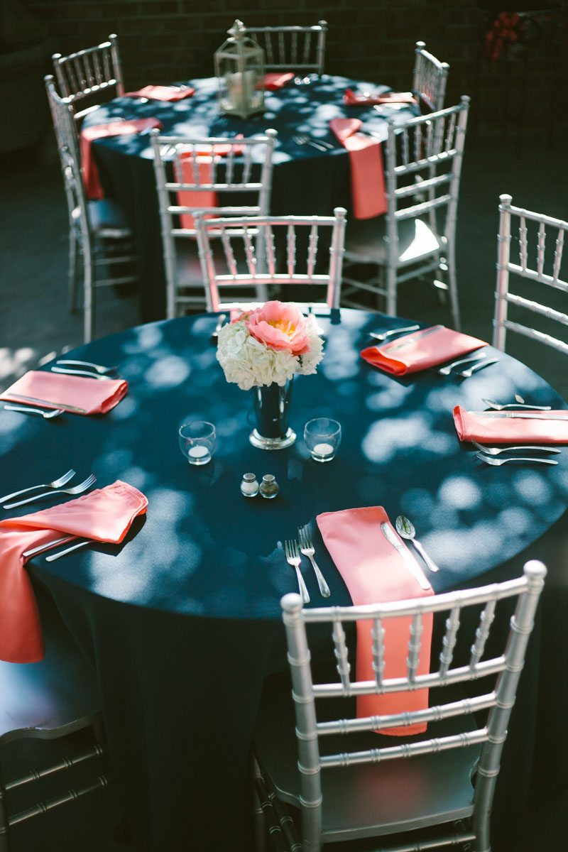 Reception Table Settings - Mark Williams Studio Photography